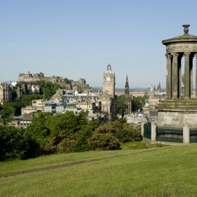 Edinburgh city from Calton Hill Dugald Stewart Monument
