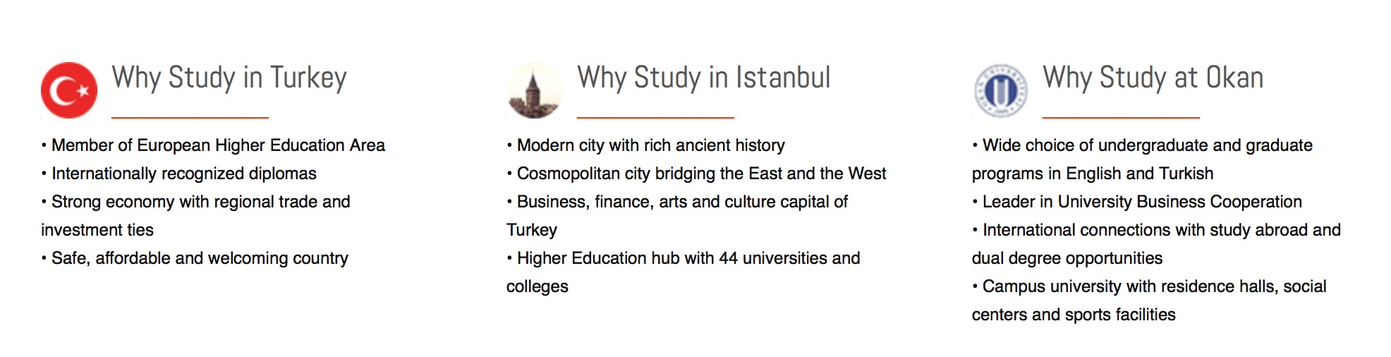 Why study at Okan