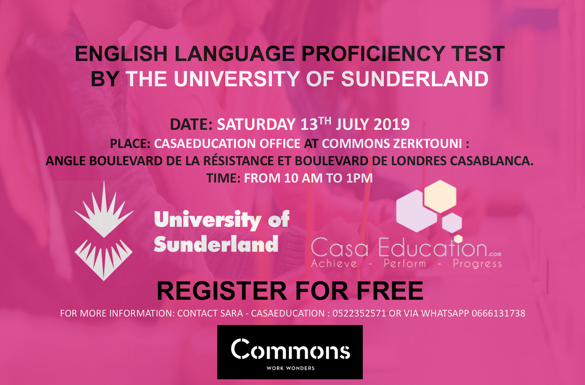 Univ of Sunderland English Exam - CasaEducation